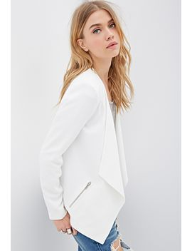 collarless-draped-front-blazer by forever-21