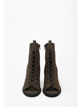 lace-up-peep-toe-booties by forever-21