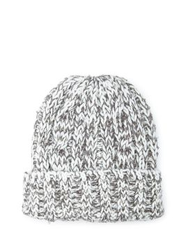 chunky-marled-knit-beanie by forever-21
