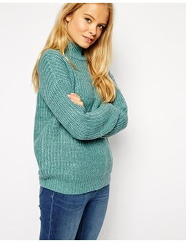 asos-chunky-sweater-in-twist-yarn-with-turtleneck by asos-collection