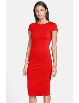 ward-seamed-pencil-dress by felicity-&-coco