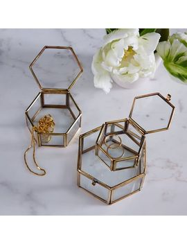 nesting-glass-shadow-boxes-–-hexagon-(set-of-3) by west-elm
