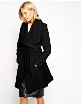 oasis-textured-long-belted-coat by oasis