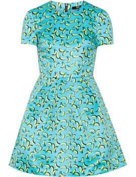 bananas-frankie-printed-satin-mini-dress by markus-lupfer