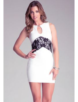 keyhole-lace-inset-dress by bebe