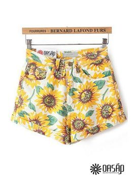 sun-flower-vintage-shorts by oasap