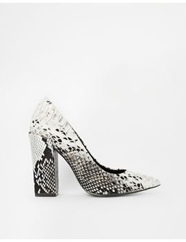 river-island-block-heel-court-snake-print-shoes by river-island