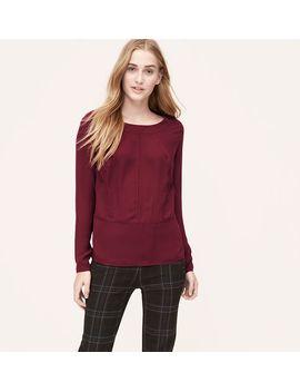 pointelle-trim-blouse by loft