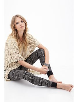 geo-striped-knit-joggers by forever-21