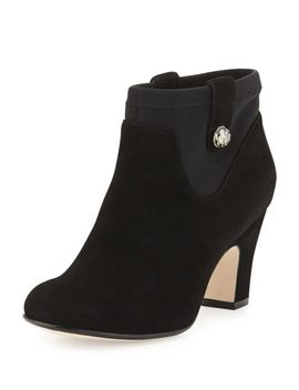 telly-suede-ankle-bootie,-black by taryn-rose