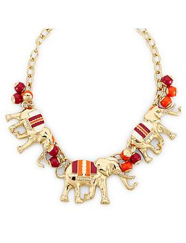 Elephant Stampede Drama Necklace by Cwonder