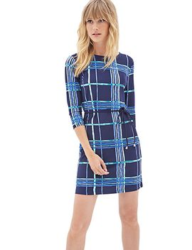 windowpane-print-shift-dress by forever-21