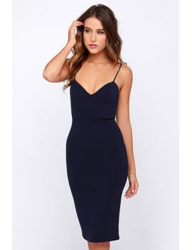 lulus-exclusive-midi-of-the-night-navy-blue-bodycon-midi-dress by lulus