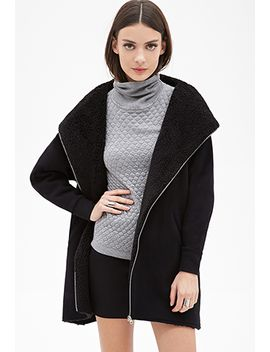 hooded-longline-parka by forever-21