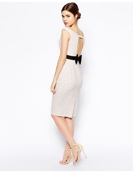asos-bow-back-lace-pencil-dress by asos-collection