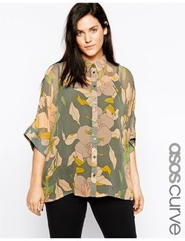 asos-curve-kimono-blouse-in-vintage-bird-and-floral-print by asos-curve