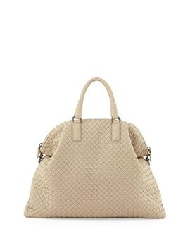 medium-convertible-woven-tote-bag,-beige by bottega-veneta