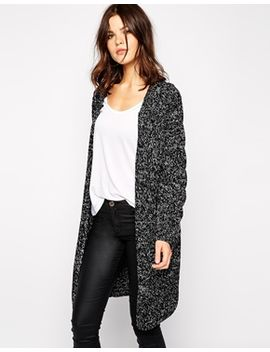 yas-maggie-long-cardigan-with-cable-panel by yas
