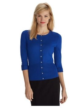 3_4-sleeve-snap-front-cardigan by whbm