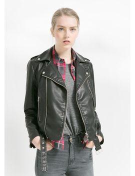 belted-biker-jacket by mango
