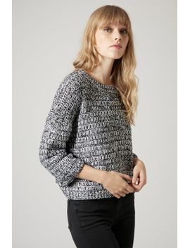 salt-and-pepper-slouchy-sweater by topshop