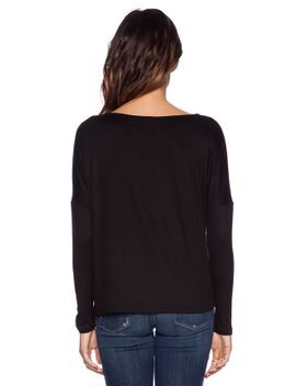 long-sleeve-v-hem-top by heather