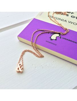 ampersand-rose-gold-necklace---dainty-necklace---rose-gold-jewellery---gift-for-friend---friendship-necklace---rose-gold-necklace-gift by literaryemporium