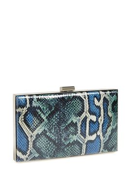 snake-print-clutch by sondra-roberts