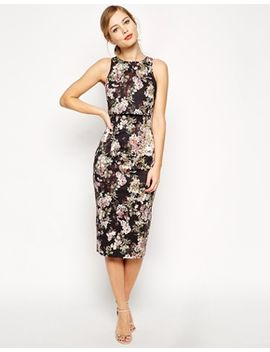 asos-blossom-print-crop-top-dress by asos-collection
