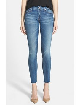 looker-frayed-ankle-jeans by mother