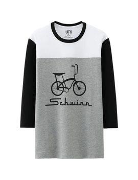 men-schwinn-graphic-3_4-sleeve-t-shirt by uniqlo