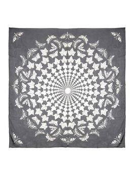escher-ivy-print-silk-scarf-(208963) by alexander-mcqueen