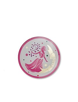 Virgo Zodiac Glass Plate by Cwonder