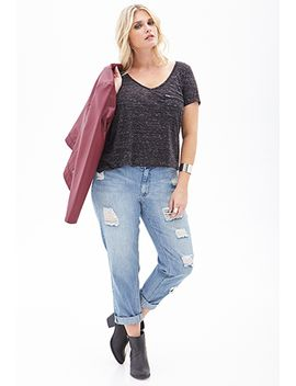 high-waisted-distressed-boyfriend-jeans by forever-21