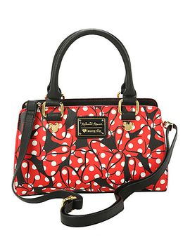 disney-loungefly-minnie-mouse-bows-satchel-bag by hot-topic