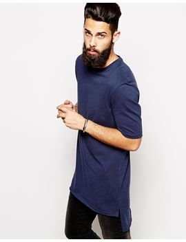 asos-super-longline-t-shirt-with-stepped-hem-skater-fit by asos