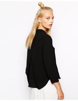 monki-dip-back-shirt by monki