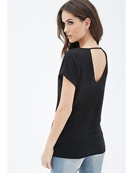 open-back-knit-blouse by forever-21