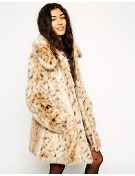 asos-faux-fur-leopard-print-coat by asos-collection