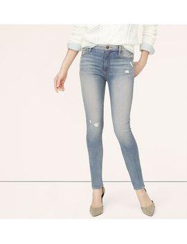 modern-high-waist-skinny-jeans-in-destructed-garden-blue-wash by loft