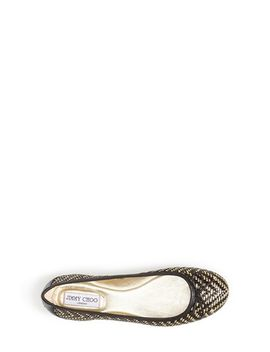 walsh-woven-two-tone-ballerina-flat by jimmy-choo