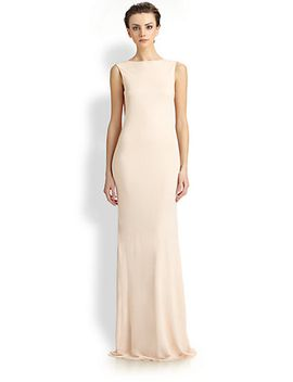 cowl-back-gown by badgley-mischka