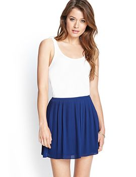 pleated-chiffon-skirt by forever-21