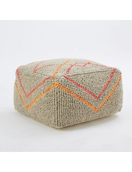 kate-spade-saturday-neon-diamond-wool-pouf by west-elm