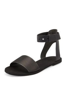 sawyer-leather-ankle-wrap-sandal,-black by vince