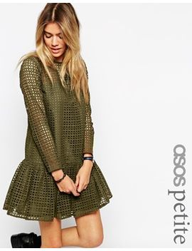 asos-petite-shift-dress-in-broiderie by asos-petite