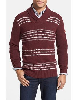 fair-isle-shawl-collar-sweater by ben-sherman