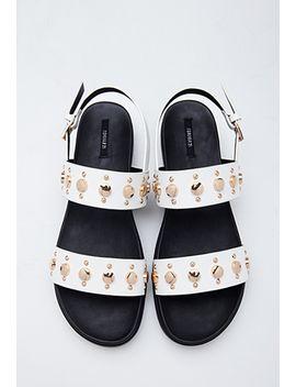 studded-flatform-sandals by forever-21