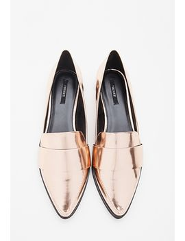 faux-leather-pointed-loafers by forever-21