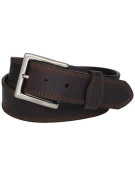 wrangler-mens-rugged-wear-belt-brown-stitching by wrangler